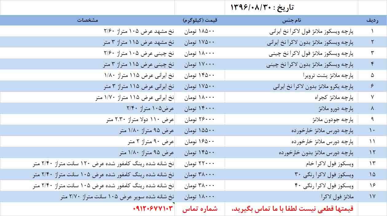 قیمت پارچه ملانژ یکرو